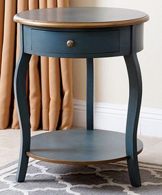 Turquoise & Antique Brass Courtney End Table - repaint the black etagere a color like this?