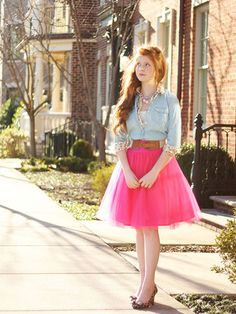 Estelle Skirt Sewing Pattern - Women's tulle skirt (fun for a night out or wedding) - Violette Field Threads
