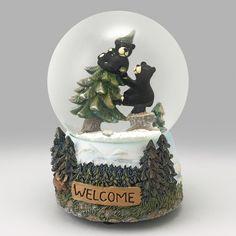Little Bears Welcome Snow Globe Snow Globe Kit, Diy Snow Globe, Christmas Snow Globes, Christmas Stuff, Water Globes, Welcome, Cool Stuff, Bears, Music Boxes
