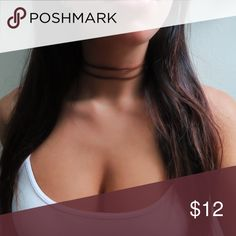 Layered Brown Choker Layered leather/suede choker with silver adjustable sizing clasp. Jewelry Necklaces
