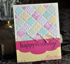 Inspiration Station: Quatrefoil Birthday Card - using the cut out pieces from the die