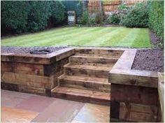 large garden design ideas sleepers - Google Search
