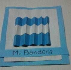 Tarjeta patria Independence Day, Ideas Para, Origami, School, Diy, Frases, Paper, Homemade Cards, Art Kids