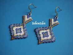 beadwork pattern: Aqa Bozorg mosque inspired Delica seed bead brick stitch earrings pattern. download only. MUST KNOW brick stitch.