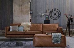 Tips That Help You Get The Best Leather Sofa Deal. Leather sofas and leather couch sets are available in a diversity of colors and styles. A leather couch is the ideal way to improve a space's design and th Furniture, Living Room Furniture, Leather Furniture, Home, Industrial Living Room Design, Apartment Decor, Leather Sofa, Home And Living, Living Room Designs