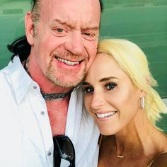WWE icon The Undertaker (Mark Calaway) and his wife Michelle McCool Calaway at their home in Texas. The couple celebrated their eighth wedding anniversary in June Undertaker Wwe, Wwe Couples, Celebrity Couples, Brock Lesnar Family, Vince Mcmahon, Wrestling Wwe, Wwe News, Professional Wrestling, Wwe Superstars