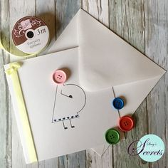 Button Cards, Card Making, Craft Ideas, How To Make, Crafts, Handmade, Manualidades, Hand Made, Handmade Crafts