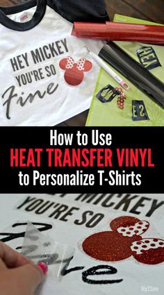 Learn to make personalized t-shirts using a Cricut cutting machine and heat transfer vinyl.