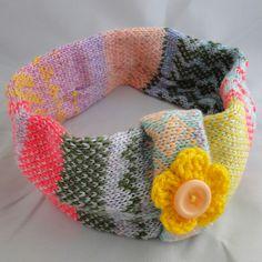 Hand Made Knitted Fair Isle Headband - Bubblegum, Paradis Terrestre - Luxury British Made Accessories & Homeware Modern Hippie, Handmade Headbands, Unique Cards, Burlap Wreath, Greeting Cards, British, Retro, Luxury, Stuff To Buy