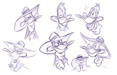 To celebrate the return of Darkwing Duck to Disney comics, I doodled up some DW's because.well, maybe you'll see more of him from me in the future! Disney Drawings, Cool Drawings, Disney Magic, Disney Art, Walt Disney Characters, Dark Wings, Disney Duck, Duck Tales, Cartoon Sketches
