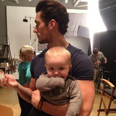 David Gandy.. Seriously.. Idk the baby but hot dude with a munchkin is just too much