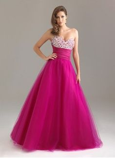 Ball-Gown Sweetheart Sweep Train Taffeta Tulle Prom Dress With Ruffle Beading