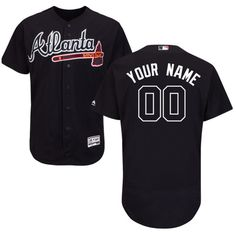 df8e60557 Youth Customized Atlanta Braves Authentic Alternate Road Navy Blue Jersey