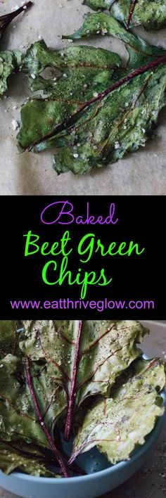 This baked beet green chips recipe are easy and healthy. Better than kale chips!