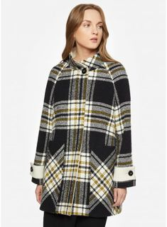 d11d3388388 Plaid alpaca and wool coat Wool Coat
