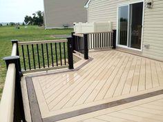 timbertech deck with herringbone pattern