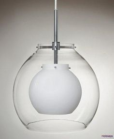 Duo globe pendant, clear, small