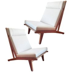 Pair of Hans Wegner Chairs | See more antique and modern Chairs at http://www.1stdibs.com/furniture/seating/chairs