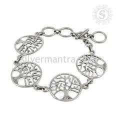 Handmade Silver Jewelry Tree of Life Bracelet