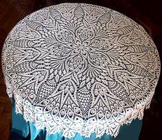 Ravelry: Grand Lace Tablecloth pattern by Olga Gulidova Vintage Crochet Doily Pattern, Crochet Tablecloth Pattern, Crochet Doily Patterns, Crochet Doilies, Crochet Lace, Crochet Hook Sizes, Thread Crochet, Filet Crochet, Baby Boy Knitting Patterns