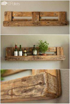 Pallet Rustic Shelf Pallet Shelves & Pallet Coat Hangers