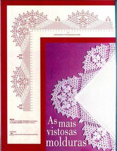 Diy Crafts - View album on Yandex. Crochet Lace Edging, Crochet Borders, Crochet Stitches Patterns, Crochet Round, Thread Crochet, Free Crochet, Cross Stitch Patterns, Craft Free, Crochet Videos