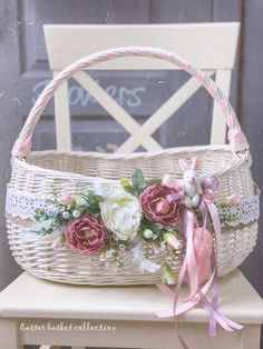 Flower Box Gift, Flower Boxes, Shaby Chic, Fruit Decorations, Basket Decoration, Easter Wreaths, Summer Wreath, Easter Baskets, Easter Crafts