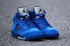 "Air Jordan Retro 5 ""Blue Suede"" on Mercari Cute Jordans, Jordans For Men, Air Jordans, Jordan 5, Jordan Retro, Jordan Shoes, Wwe Outfits, Blue Suede, Me Too Shoes"