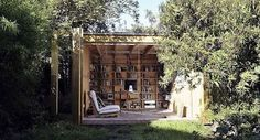 turn a shed into a reading nook: 10 Gorgeous Outdoor Reading Nooks ... http://bookriot.com/2016/05/20/10-gorgeous-outdoor-reading-nooks/