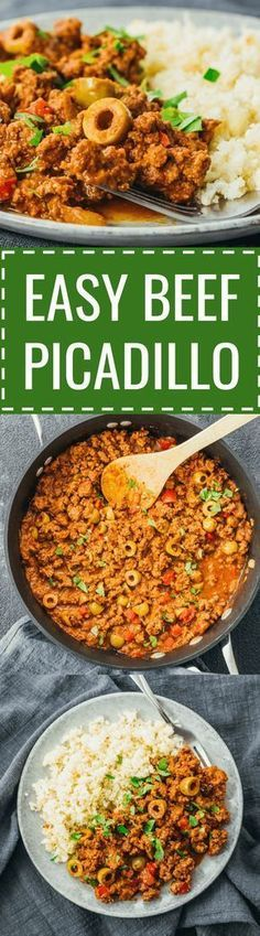 An easy beef picadillo stew recipe influenced by Cuban and Mexican cuisine. Ground Chicken Recipes, Ground Turkey Recipes, Easy Chicken Recipes, Beef Recipes, Mexican Food Recipes, Beef Picadillo, Picadillo Recipe, Mexican Picadillo, Healthy Diet Recipes