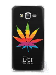 Capa Samsung Gran Prime Maconha iPot Pense Diferente - SmartCases - Acessórios para celulares e tablets :)