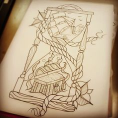 Working on a design for Saturday...#wip #workinprogress #nautical #nauticaltattoo #tattooideas #tattoodesign #shipwreck #shipwrecktattoo #losttreasure #sunkentreasure #hourglass #hourglasstattoo #tradtatt #traditionaltattoo #linework #sketchoftheday #cheltenhamtattoo #cheltenham #funtattoo #tallshiptattoo #pendrawing #customtattoo #instainkn#instaart by ben.ayers.tattoo