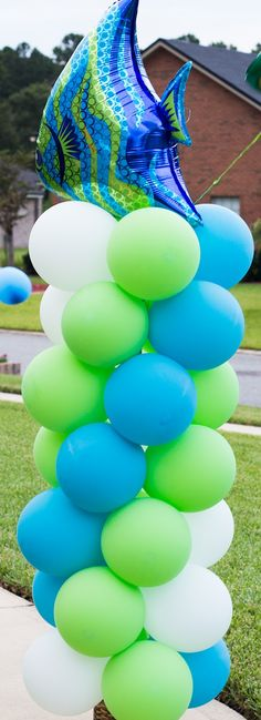 Colourful balloons.