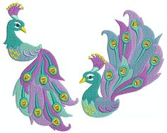 PEACOCK 3 Machine Embroidery - Machine Embroidery Design for sale at https://www.southerncrossembroidery.com/market/peacock-3-machine-embroidery/
