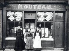 Mr Outram dining rooms, Poplar, London, c. 1900