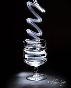 Glass with light