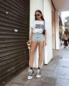 spring outfits women, spring outfits for teen girls, spring outfits for work, spring outfits women over 40 casual Spring Outfit Women, Spring Outfits For Teen Girls, Spring Outfits For School, Cute Summer Outfits, Outfits For Teens, Outfit Summer, Style Outfits, Basic Outfits, Casual Fall Outfits