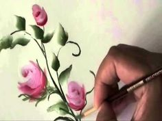 How to paint roses - YouTube