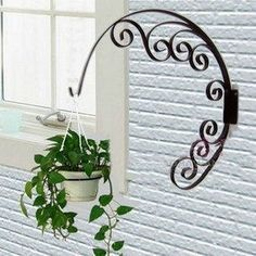 Cheap decor, Buy Quality decor decoration directly from China decorative heels Suppliers: Titel:Creative Hanging Flower Stand x 17 Simple & Cheap Home Creative Decoration ( Just 5 Minutes ) Garden Art, Garden Design, Easy Garden, Dream Garden, Wrought Iron Decor, Iron Furniture, Cheap Furniture, Furniture Ideas, Deco Floral