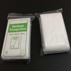 New medical gauze pad sterile triangular bandage emergency kit accessories 96x96x136cm first aid wrap bandage sling bandage #hats, #watches, #belts, #fashion, #style