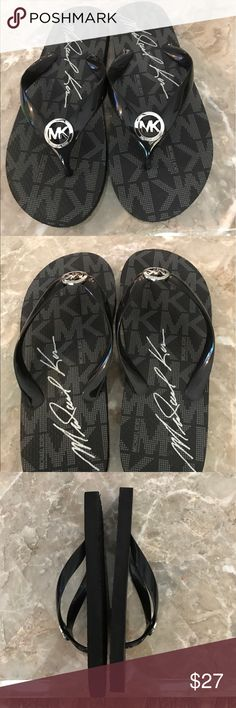 Michael Kors - Sandals   SZ 8 Gently Worn Michael Kors - Elegant Casual Black Sandals Flops.  SZ 8.   Only worn once... Michael Kors Shoes Sandals