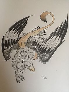 Gryphon tattoo commission