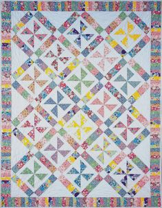 Pinwheels of Yesteryear Quilt Pattern BC-105 (intermediate)- $9.00