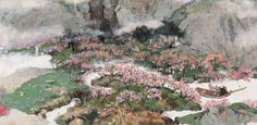 A Tale of the Fountain of the Peach Blossom Spring illustrated by Cai Gao (《桃花源的故事》,蔡皋绘)