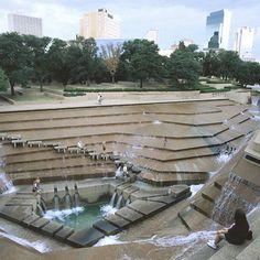 Magnificent Water Garden at Fort Worth Water Gardens in Texas.