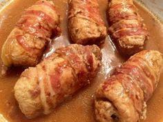 Wiejskie roladki schabowe - Blog z apetytem Polish Recipes, Aga, Pork Recipes, Fried Rice, Food To Make, Sausage, Sandwiches, Brunch, Food And Drink