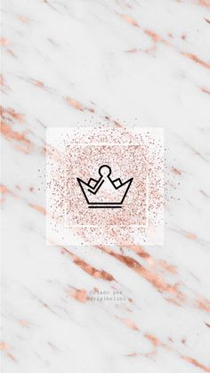 Pink Wallpaper Backgrounds, Wallpaper Iphone Cute, Cute Wallpapers, Crown Background, Rose Gold Marble Wallpaper, Icon Photography, Pink Crown, Instagram Background, Instagram Logo