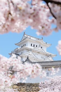 In spring, the cherry blossoms frame the white castle of Himeji, making it one of the most beautiful sights in Japan.