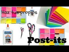 Organizador de Notas Post-It para la Escuela u Oficina - DecoAndCrafts - YouTube Washi, Tapas, Diy Agenda, Pretty Notes, Youtube, School, Party, How To Make, Organizers