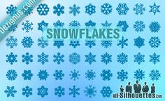free vector snowflakes